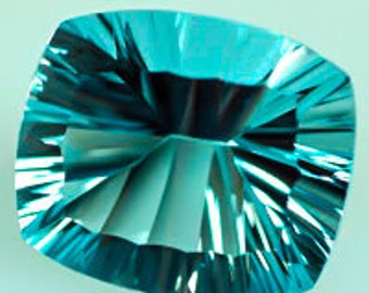 Concave Oval Cushion Blue Topaz 31.80 c