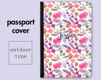 Personalized Passport Holder - Floral Garden - Cute Passport Holder - Gift for Her - Holiday Gift - Gift for Mom - Gifts for Mum - PC015