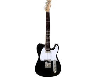 Miniature Guitar Replica: Telecaster Display Guitar Black Finish