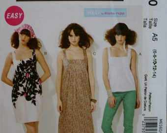 McCalls M6560 Misses Top and Dress Sewing Pattern New/Uncut Size 6-8-10-12-14