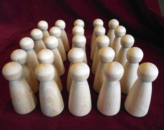 Bulk Pack of 25 of the No. 1 Large Angel Peg Doll, Unfinished