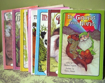 On Sale, Lot of 14 Serendipity Childrens Softcover Books, Stephen Cosgrove Illustrated by Robin James, Vintage Picture Books, Moral Lessons