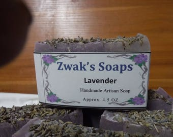 Lavender Handmade Soap With Shea Butter and Goats Milk