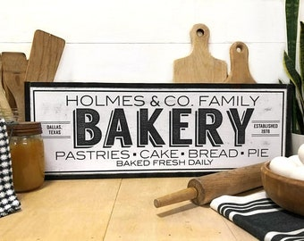 Bakery Sign, Kitchen Bakery Sign, Farmhouse Bakery Sign, Custom Farmhouse Sign, Farmhouse Kitchen Sign, Kitchen Sign, Personalized Sign, SM