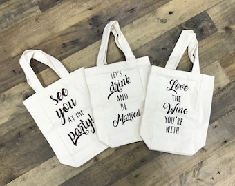 Canvas Gift Bags  - Wedding /  Hotel / Guest / Welcome / Wine Tote