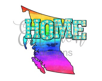Home, province, British Columbia, Canada, clipart, sublimation, scrapbooking, PNG
