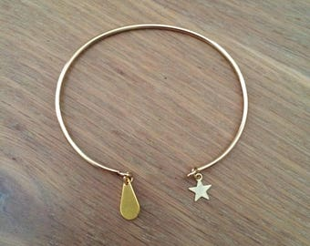 Bangle Bracelet Teardrop (gold)