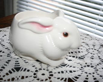 Avon Bunny Planter, Easter Bunny Planter, Avon Planter, Candle Holder, Planter, Candy Dish, Hand Painted, Made in Brazil,  Rabbit Planter