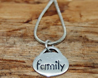 Sterling Silver Family Pendant and Chain- Handmade Pendant - 925 sterling silver pendant - Inspirational Pendant - Pendant and Chain  - MP16