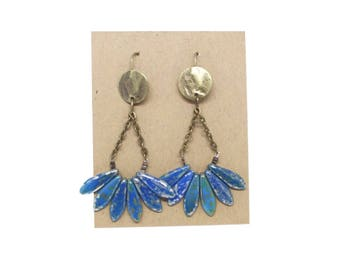 APACHE blue speckled earrings