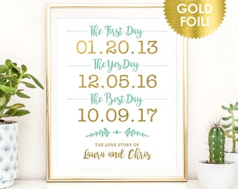 First Day, Yes Day, Best Day Wedding Signs / GOLD FOIL Wedding Signs / Best Day Wedding Sign /  Custom Wedding Signs / Peony Theme