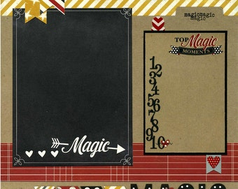 Top Magic Moments - Premade Scrapbook Page