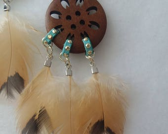 Feather earrings natural feather boho earrings silver gift for her