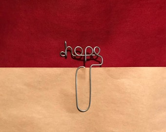 Hope Wire Bookmark Paperclip
