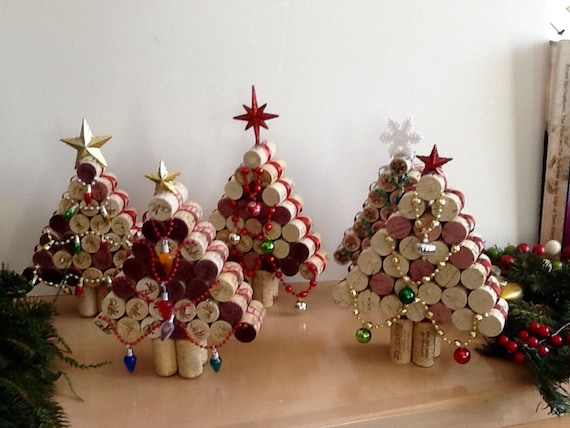 items similar to wine cork christmas tree upcycled. Black Bedroom Furniture Sets. Home Design Ideas