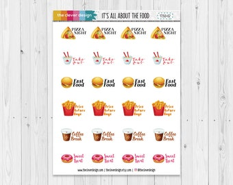 Going Out Planner Stickers | Fast Food Stickers | Fries Before Guys Stickers | For the Love of Food | 17350-02