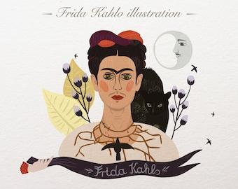 Frida Kahlo Mexico clipart