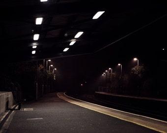 Urban Night Photography - Botanic Station - Belfast Northern Ireland - Limited Edition Print - 8x12, 12x18, 16x24, 20x30, 24x36