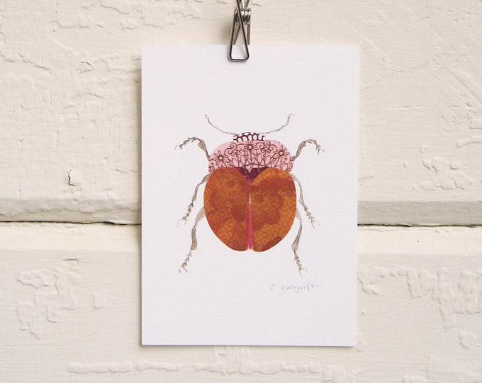Fat Orange Beetle Print