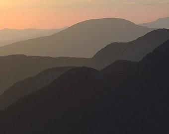 Adirondacks Sunrise, New York Fine Art Photography, Golden Theme, Horizontal Photo, Large Wall Art
