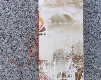 Junk Journal for Collage, Pocket Journaling, Scrapping, with Upcycled Tea Package Cover