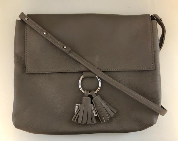 Handmade genuine leather crossbody, messenger/ leather purse