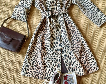 BLIZZAND - Trench coat long printed leopard - 1960's