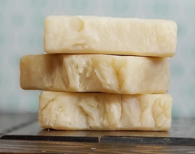 Up on a Hill Stood a Lonely Goatherd Goat Milk Soap - All Natural, Handmade, Unscented, Hot Process Soap, Vegetarian Soap, Free Shipping