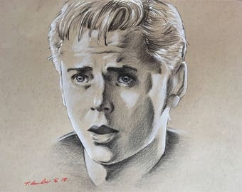 Ponyboy Curtis original drawing. Fan-art . The Outsiders C.Thomas Howell