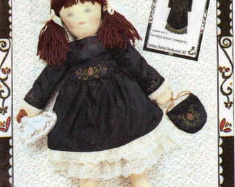 Ragtime Dolls Beaded Dress, Petticoat , Bag and Handkerchief Doll ,Sewing Pattern, 18 Inch Sophie Doll Clothes, McCalls 4411, Uncut
