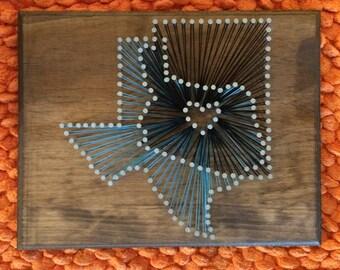 Overlapping nail string art