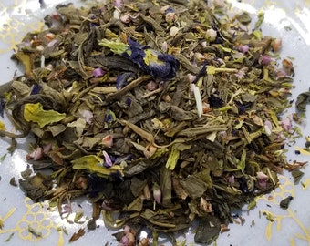 OMFG - Jasmine-Infused Green Tea with Heather and Butterfly Pea Flower, Blue Tea, Aromatherapy