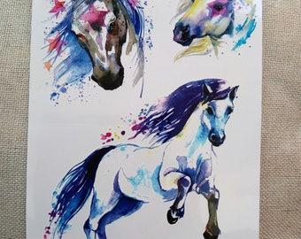 horses temporary tattoos/ animal tattoos
