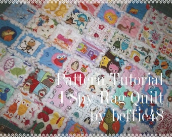 Easy, Quilt, Kids I SPY Rag Quilt Tutorial, pdf file with photos