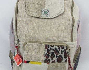 Hemp eco friendly fair trade backpack cheetah print hemp accessories hemp clothing