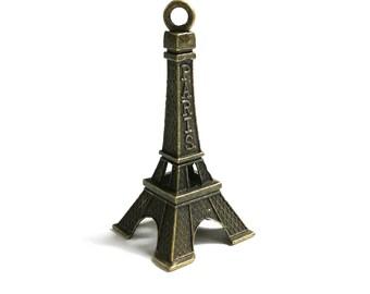 3D Eiffel Tower Antique Bronze Charms Pendant