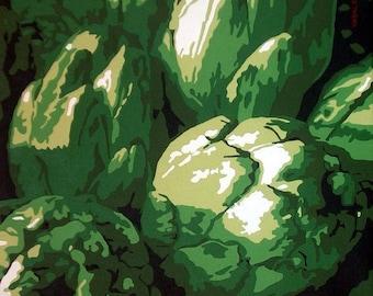 Artichokes prints, Artichokes art, Vegetables art, Restaurant art, Restaurant prints, Kitchen decor, Kitchen art, Home decor, Home print