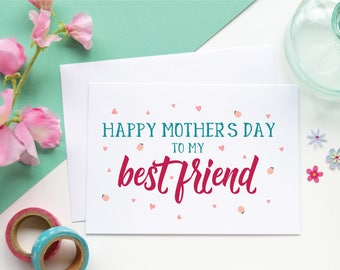 Best friend Mothers day card, Cute Mothers day card, Card for mum  Card for mom, Mam card, Happy Mothers day, Greetings card