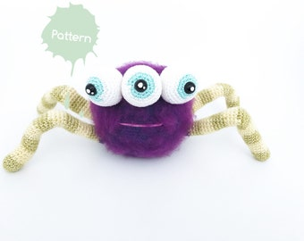 Morty the monster dutch/english crochet pattern