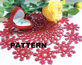 napkin TATTING PATTERN by Moje Robótki magazine Tatting Doily Pattern Shuttle Tatting Pattern ___ ready to ship by now! tatting magazine