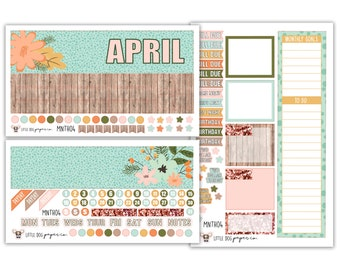MNTH04 // April Monthly View Kit // Soft Floral