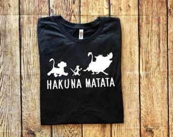 Hakuna Matata, Hakuna Matata Shirt, Disney Inspired Adult Shirt, Disney Family Shirts, Dole Whip Shirt, Animal Kingdom Shirt, Lion King