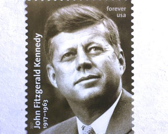 5 Unused JFK Forever Postage Stamps // John F Kennedy Postage Stamps // President Postage for Mailing