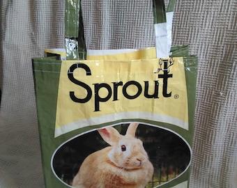 Rabbit, feed sack, tote, bag