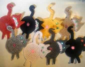 Cat Butt Coasters set of 4