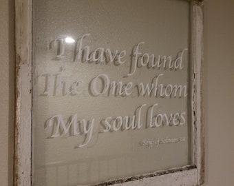 Custom Quote Window Art