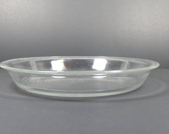 Vintage Pyrex Clear Glass Pie Plate