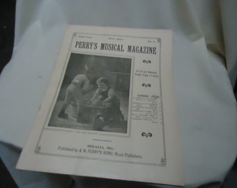 Vintage 1927 Perry's Musical Magazine Sheet Music, May, no 2, collectable