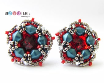 Sashka earrings - instant download beading pattern