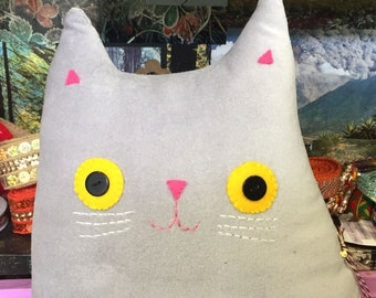 Cat shaped cushion - Mr Baxter Whiskers